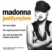 JUSTIFY MY LOVE - UK IN-STORE PROMO POSTER DISPLAY FLAT
